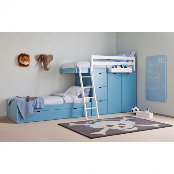 dywan dla dzieci czaszka dywan dzieci cy big skull headphones 140x200 cm kolor niebieski. Black Bedroom Furniture Sets. Home Design Ideas
