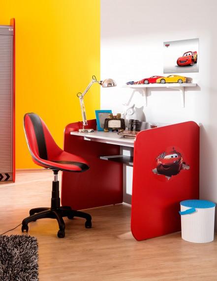 Wygodne krzesło obrotowe do biurka, czerwone Auta, Cars, Kids&Teens Krzesło biurowe Sklep Internetowy Kiddyfave.pl