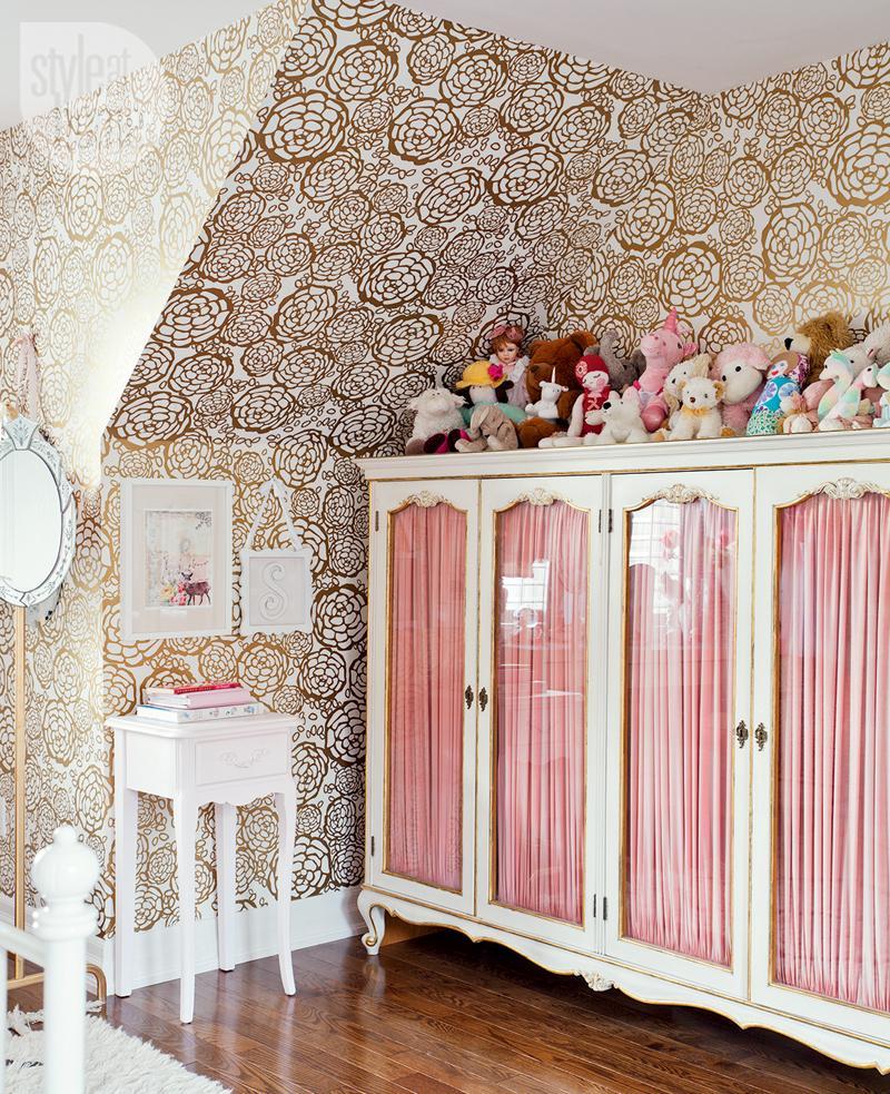 elegancki pokój dla dziewczynki