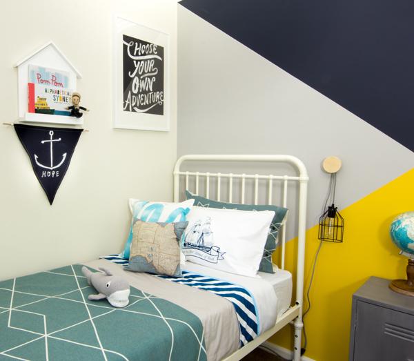pokój dla chłopca w stylu marynistycznym