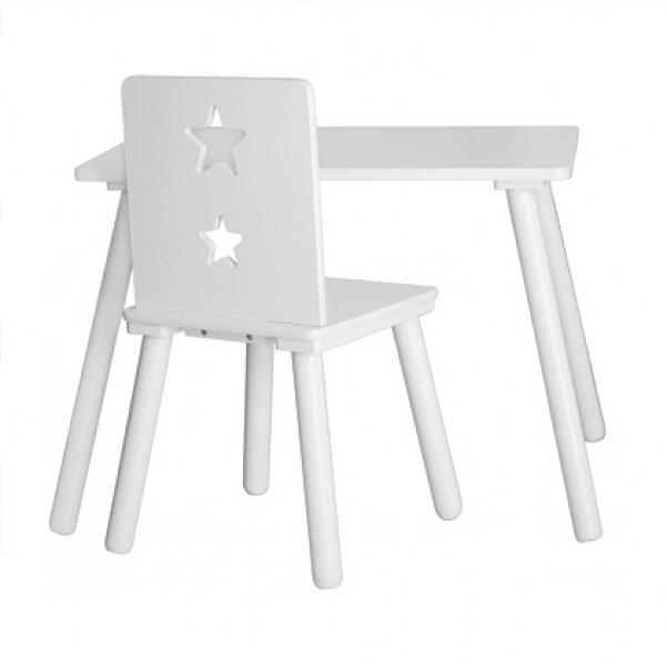 Kids Concept Stolik Dziecięcy Gwiazdy Biały Kiddyfavepl