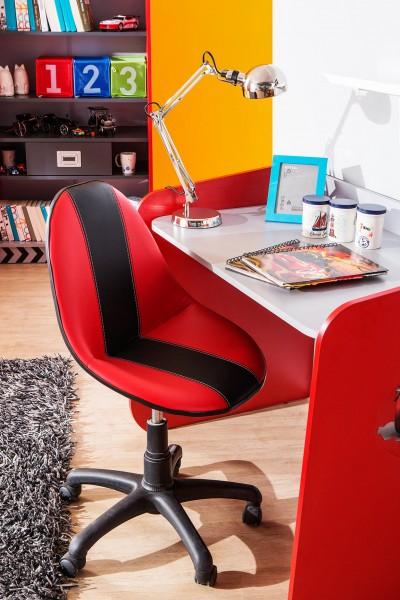 Wygodne krzesło obrotowe do biurka, czerwone Auta, Cars