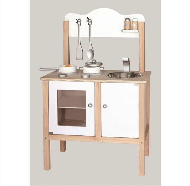 Viga Drewniana Kuchnia Dla Dzieci Z Akcesoriami 2 Kolory