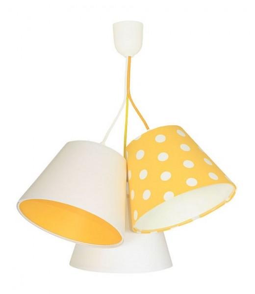 Potrójna Lampa Wisząca żółta W Groszki Macodesign Lampa Do